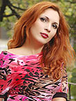 Photo of beautiful Ukraine  Anna with red hair and brown eyes - 18180