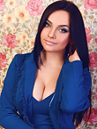 Photo of beautiful Ukraine  Elena with black hair and green eyes - 12856