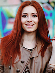 Photo of beautiful Ukraine  Elena with red hair and brown eyes - 17957