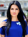 Photo of beautiful  woman Elizabeth with black hair and green eyes - 12974
