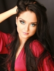 Photo of beautiful Ukraine  Julia with black hair and green eyes - 19738