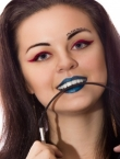 Photo of beautiful Ukraine  Katerina with black hair and green eyes - 20287