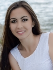 Photo of beautiful Ukraine  Kristina with black hair and brown eyes - 20310