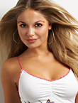 Photo of beautiful  woman Olga with blonde hair and green eyes - 17970