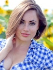 Photo of beautiful Ukraine  Olga with brown hair and green eyes - 19577