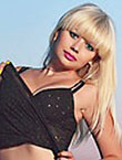 Photo of beautiful Ukraine  Svetlana with blonde hair and grey eyes - 18177