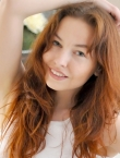 Photo of beautiful Ukraine  Tatyana with red hair and green eyes - 19841