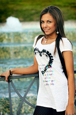 Photo of beautiful Ukraine  Valeria with light-brown hair and brown eyes - 12308