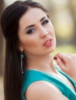 Photo of beautiful Ukraine  Yulia with black hair and green eyes - 21450