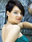 Photo of beautiful Ukraine  Yuliya with black hair and green eyes - 20631